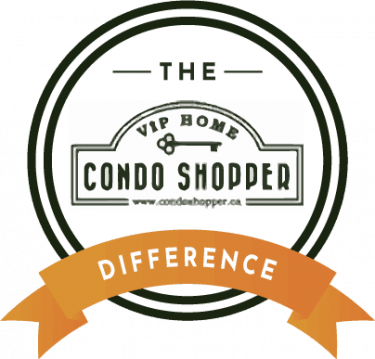 condo shopper difference badge white large